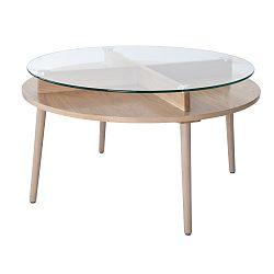 Konferenční stolek z dubového dřeva RGE Solo, ⌀90 cm