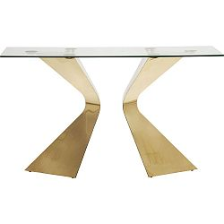 Konzolový stolek s nohami v barvě zlata Kare Design Gloria