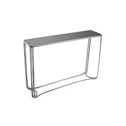 Konzolový stůl ve stříbrné barvě z tvrzeného skla Versa Aux