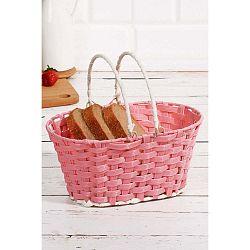 Košík na pečivo z vrbového proutí Logan Pinky, 25x17x12cm