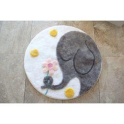 Koupelnová předložka s motivem slona Alessia, Ø 90 cm