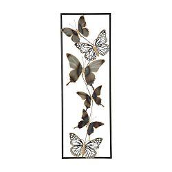 Kovová nástěnná dekorace Mauro Ferretti Butterflies, délka