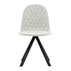 Krémová židle s černými nohami Iker Mannequin Triangle