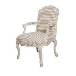 Krémová židle s područkami z březového dřeva Livin Hill Verona