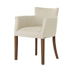 Krémově bílá židle s tmavě hnědými nohami Ted Lapidus Maison Santal