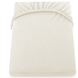 Krémově bílé prostěradlo DecoKing Amber Collection, 200-220 x 200 cm
