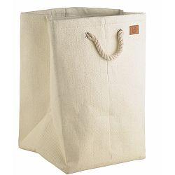 Krémový koš na prádlo Zone, 50l