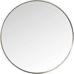 Kulaté zrcadlo s rámem ve stříbrné barvě Kare Design Round Curve, ⌀100cm