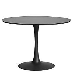 Kulatý černý jídelní stůl Marckeric Oda, ⌀ 110 cm