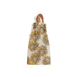 Látkový vak na chléb Linen Couture Bag Sunflower, výška 42 cm