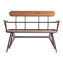 Lavice ze železa a dřeva Last Deco Ebrach