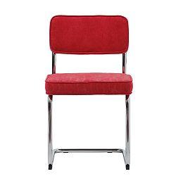 Malinově červená jídelní židle Unique Furniture Rupert Bauhaus
