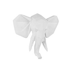 Matně bílý nástěnný věšák PT LIVING Origami Elephant