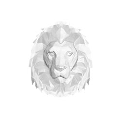 Matně bílý nástěnný věšák PT LIVING Origami Lion