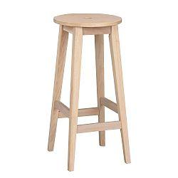 Matně lakovaná dubová stolička Folke Gorgona, výška 75 cm