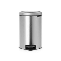 Matný pedálový odpadkový koš ve stříbrné barvě Brabantia Newicon, 12l