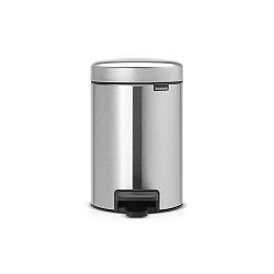 Matný pedálový odpadkový koš ve stříbrné barvě Brabantia Newicon, 3l