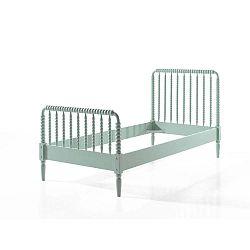 Mátově zelená dětská postel Vipack Alana, 90x200cm