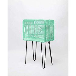 Mátově zelený odkládací stolek z recyklovaného plastu Really Nice Things Eco