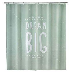 Mátově zelený sprchový závěs Wenko Dream, 180x200cm