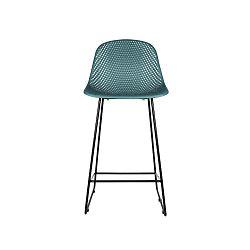 Modrá barová židle Leitmotiv Diamond Mesh