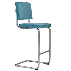 Modrá barová židle Zuiver Ridge Rib