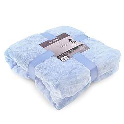 Modrá deka z mikrovlákna DecoKing Siren, 190cm