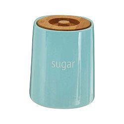Modrá dóza na cukr s bambusovým víkem Premier Housewares Fletcher