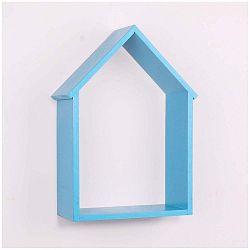 Modrá dřevěná nástěnná polička North Carolina Scandinavian Home Decors House