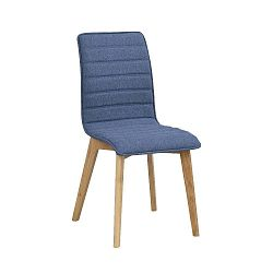 Modrá jídelní židle s hnědými nohami Folke Grace