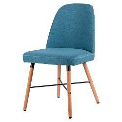 Modrá jídelní židle s podnožím z bukového dřeva sømcasa Kalia