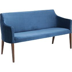 Modrá lavice Kare Design Bench Mode Velvet
