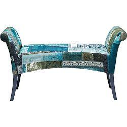 Modrá polstrovaná lavice Kare Design Motley