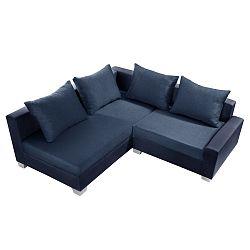 Modrá sedačka Interieur De Famille Paris Aventure, levý roh