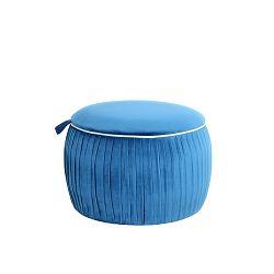 Modrá stolička s úložným prostorem 360 Living Julien
