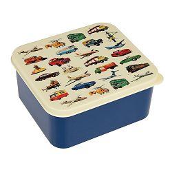 Modrá svačinová krabička Rex London Vintage Transport