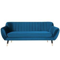 Modrá třímístná pohovka s černými nohami Paolo Bellutti Paolo