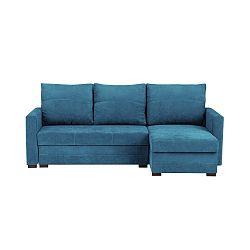 Modrá třímístná rohová rozkládací pohovka s úložným prostorem Melart Andy