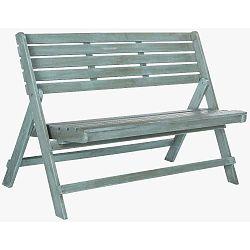 Modrá zahradní skládací lavice z akáciového dřeva Safavieh Ferrat