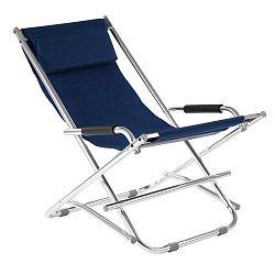 Modrá zahradní skládací židle Premier Housewares Johny