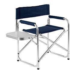 Modrá zahradní skládací židle s poličkou Premier Housewares Hanna