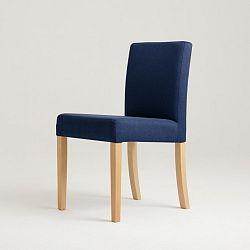 Modrá židle s přírodními nohami Custom Form Wilton
