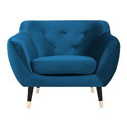 Modré křeslo s černými nohami Paolo Bellutti Giorgio