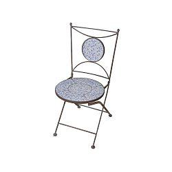 Modro-bílá židle s keramickým sedákem Ego Dekor