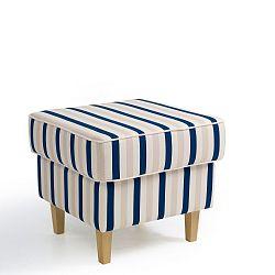 Modrobílá pruhovaná podnožka Max Winzer Lorris