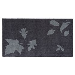 Modrošedá rohožka Tica Copenhagen Mega Leafes, 67x120cm