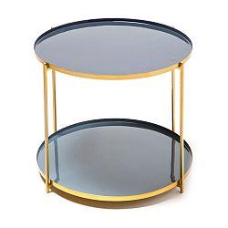 Modrošedý odkládací stolek 360 Living Romy 722, ⌀ 50 cm