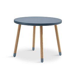 Modrý dětský stolek Flexa Play, ø 60 cm