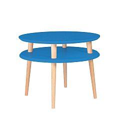 Modrý konferenční stolek Ragaba Ufo, ⌀57cm