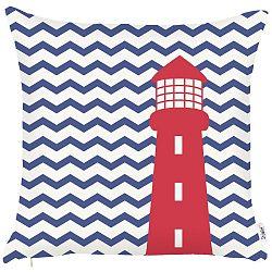 Modrý povlak na polštář Apolena Lighthouse, 43x43cm